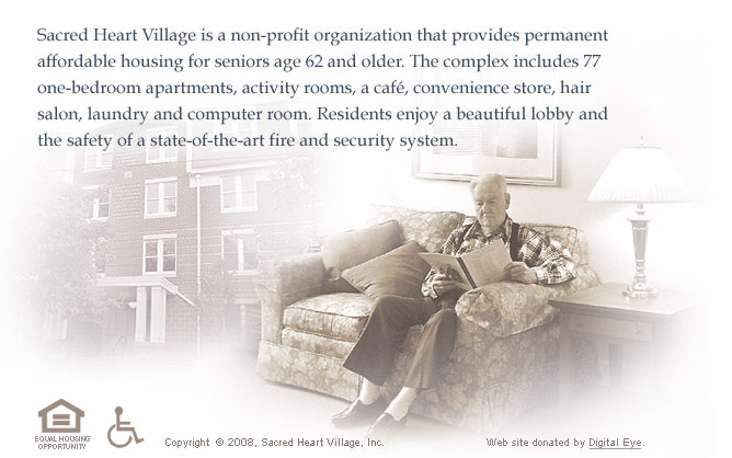 Sacred Heart Village is a non-profit organization located in Wilmington, Delaware that provides affordable housing for seniors age 62 and older.